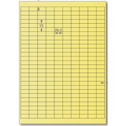 龍德 電腦標籤紙 270格 LD-881-Y-A 淺黃色 105張 影印 雷射 貼紙