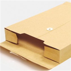 四季牛皮雙鏈釦立體資料袋B4 文件袋 公文封 SF4516