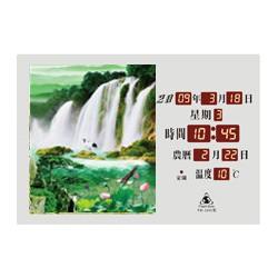 電子日曆 圖像型 FB-3245型 荷花瀑布