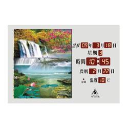 電子日曆 圖像型 FB-3245型 紅花瀑布