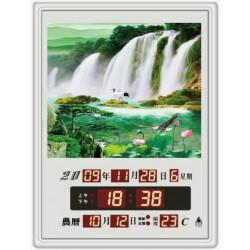 電子日曆 圖像型 FB-3040A型 荷花瀑布