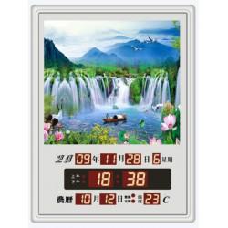 電子日曆 圖像型 FB-3040A型 湖光山色