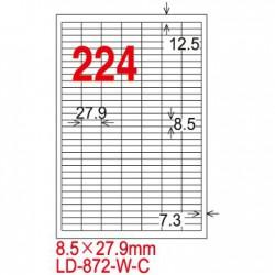 龍德 LD-872-W-C三用電腦標籤A4-224格-白20張包