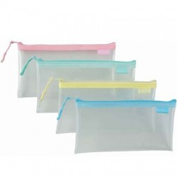 COX 三燕 PSB-021 環保透明拉鍊筆袋 鉛筆盒 (EVA環保材質)