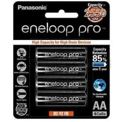 國際牌 黑鑽款 eneloop PRO 低自放3號充電電池 BK-3HCCE 4入
