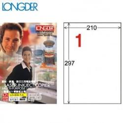 龍德LONGDER LD-800-T-A透明護貝膠膜(不可列印) A4/1格/105張/盒